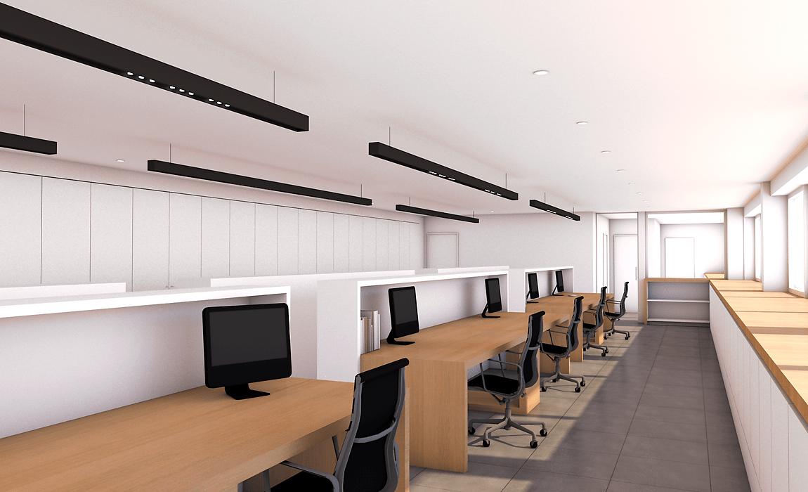 kantoorruimte verlichting